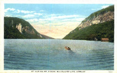 Mount Hor - Willoughby Lake, Vermont VT Postcard
