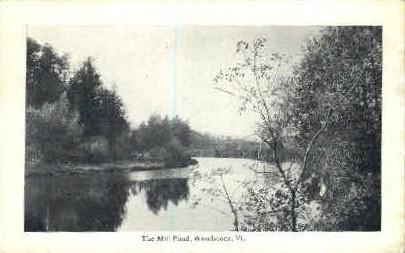 Mill Pond - Woodstock, Vermont VT Postcard