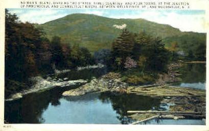 No Man's Island - Wells River, Vermont VT Postcard