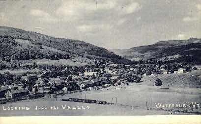 The Valley - Waterbury, Vermont VT Postcard