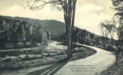 Ottauquechee River - Woodstock, Vermont VT Postcard