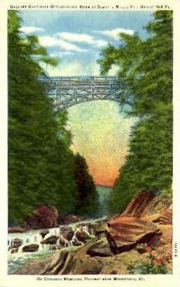Quechee Gulf - Woodstock, Vermont VT Postcard