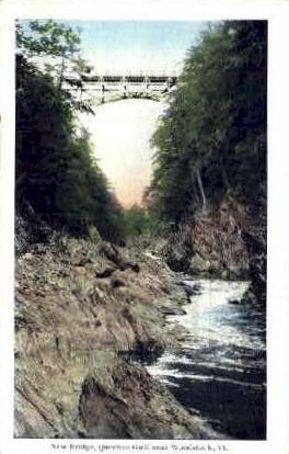 New Bridge - Woodstock, Vermont VT Postcard