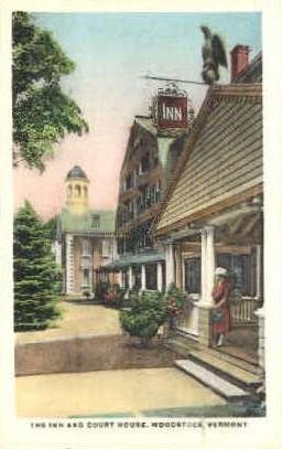 Court House - Woodstock, Vermont VT Postcard