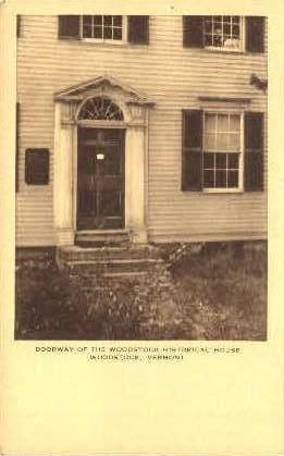 Woodstock Historical House - Vermont VT Postcard