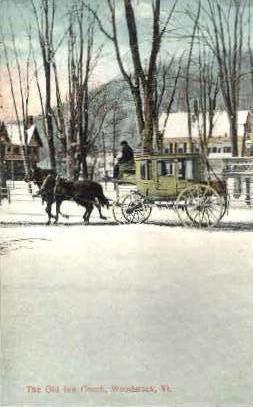 Old Inn Coach - Woodstock, Vermont VT Postcard