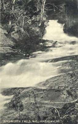 Ainsworth Falls - Williamstown, Vermont VT Postcard