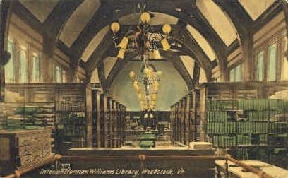 Norman Williams' Public Library - Woodstock, Vermont VT Postcard