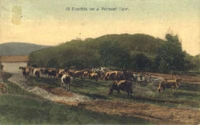 Vermont Farm - Misc Postcard