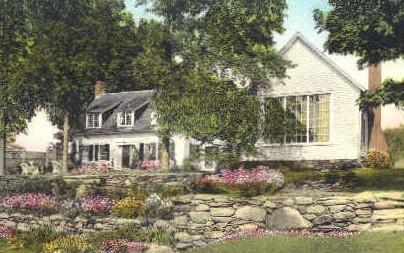 Summer Home of Mr. Sinclair Lewis - Woodstock, Vermont VT Postcard