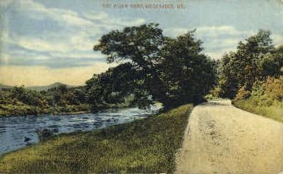 River Road - Woodstock, Vermont VT Postcard