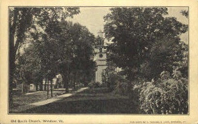 South Church - Windsor, Vermont VT Postcard