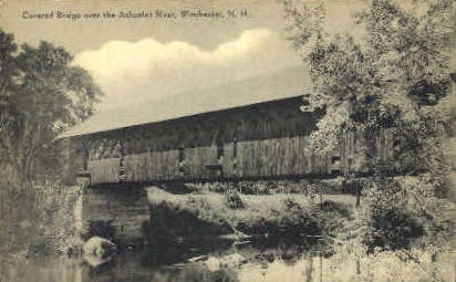 Covered Bridge - Winchester, Vermont VT Postcard