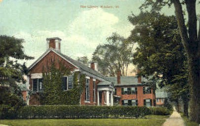 Library - Windsor, Vermont VT Postcard