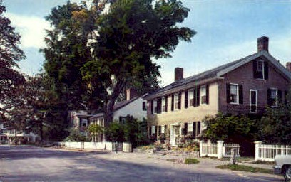 Houses on the Green - Woodstock, Vermont VT Postcard