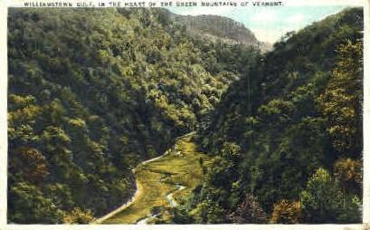 Willimastown Gulf - Green Mountains, Vermont VT Postcard