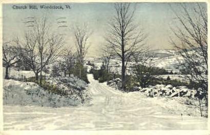 Church Hill - Woodstock, Vermont VT Postcard