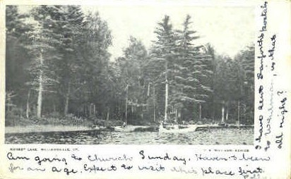 Sunset Lake - Williamsville, Vermont VT Postcard