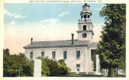 Congregational Church - Windsor, Vermont VT Postcard