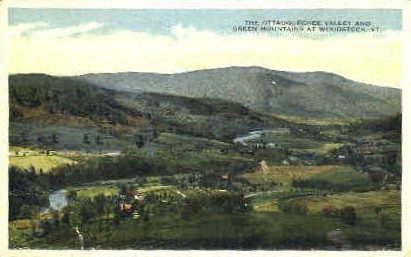 Ottauquechee Valley - Woodstock, Vermont VT Postcard