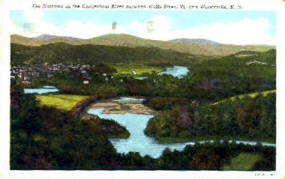 Conn River - Wells River, Vermont VT Postcard