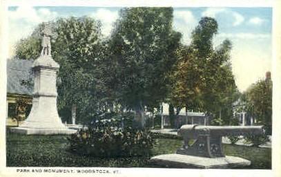 Park - Woodstock, Vermont VT Postcard