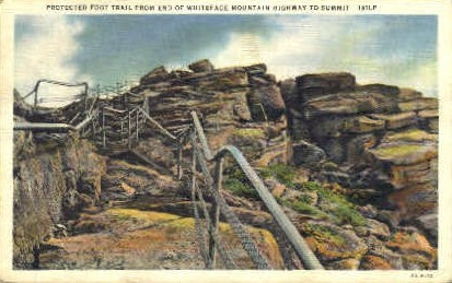 Protected Foot Trail - Whiteface Mountain, Vermont VT Postcard