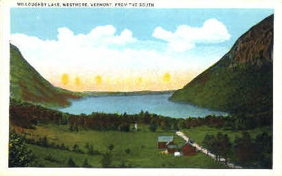 Willoughby Lake - Westmore, Vermont VT Postcard