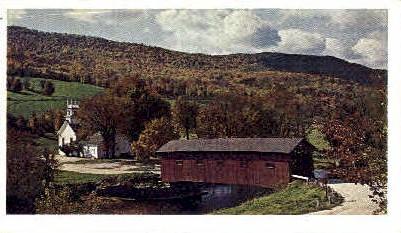 Covered Bridge - West Arlington, Vermont VT Postcard