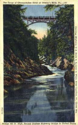 The Gorge - Deweys Mills, Vermont VT Postcard