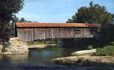 Covered Bridge - Waitsfield, Vermont VT Postcard