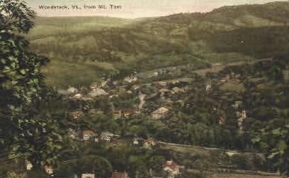 Mount Tom - Woodstock, Vermont VT Postcard