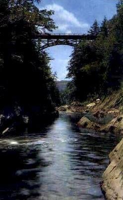 Quechee Gulf - Deweys Mills, Vermont VT Postcard