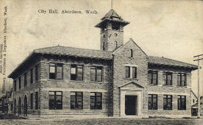 City Hall - Aberdeen, Washington WA Postcard