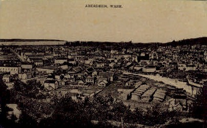 View of City - Aberdeen, Washington WA Postcard