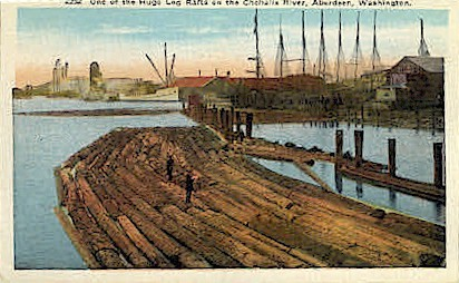 Chehalis River - Aberdeen, Washington WA Postcard