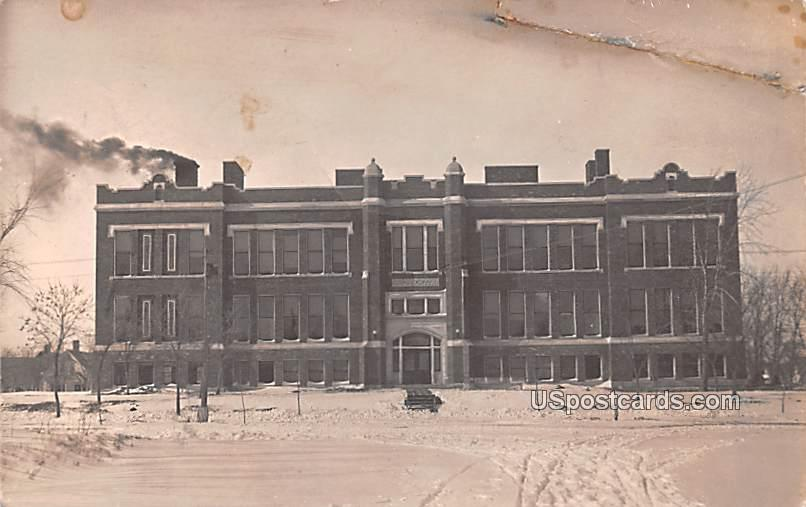 School - Albion, Washington WA Postcard
