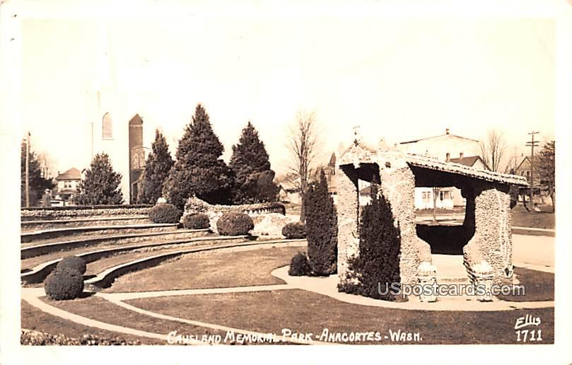 Causland Memorial Park - Anacortes, Washington WA Postcard