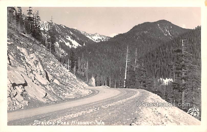 Stevens Pass Highway - Arlington, Washington WA Postcard