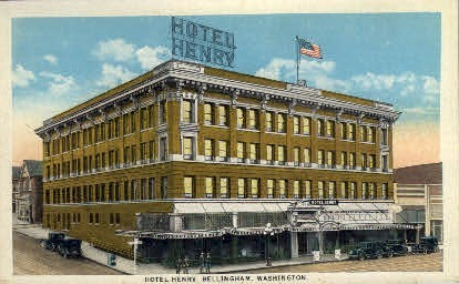 Hotel Henry - Bellingham, Washington WA Postcard