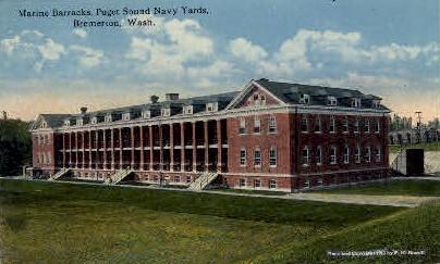 Puget Sound Navy Yard - Bremerton, Washington WA Postcard