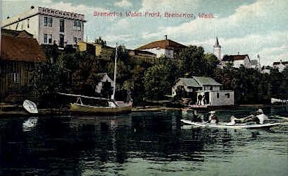 Bremerton Waterfront - Washington WA Postcard