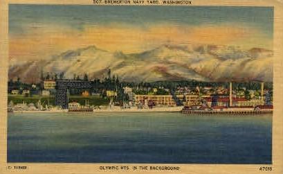 Bremerton Navy Yard - Washington WA Postcard