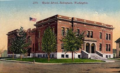 Roeder School  - Bellingham, Washington WA Postcard