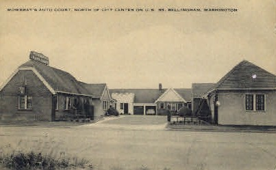 Mowbray's Auto Court - Bellingham, Washington WA Postcard