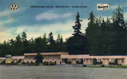Shorewood Motel - Bremerton, Washington WA Postcard