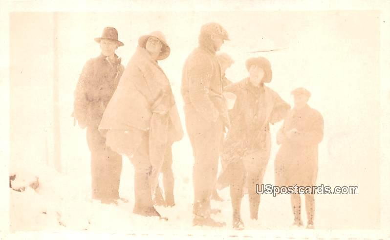 Group of Men in Winter - Berry Mountain, Washington WA Postcard