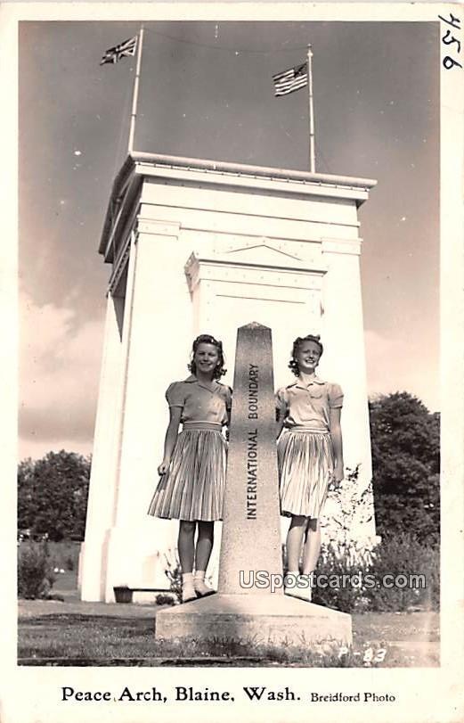 Peace Arch - Blaine, Washington WA Postcard