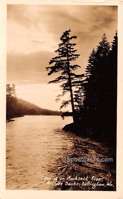 Evening on Nooksack River - Bellingham, Washington WA Postcard