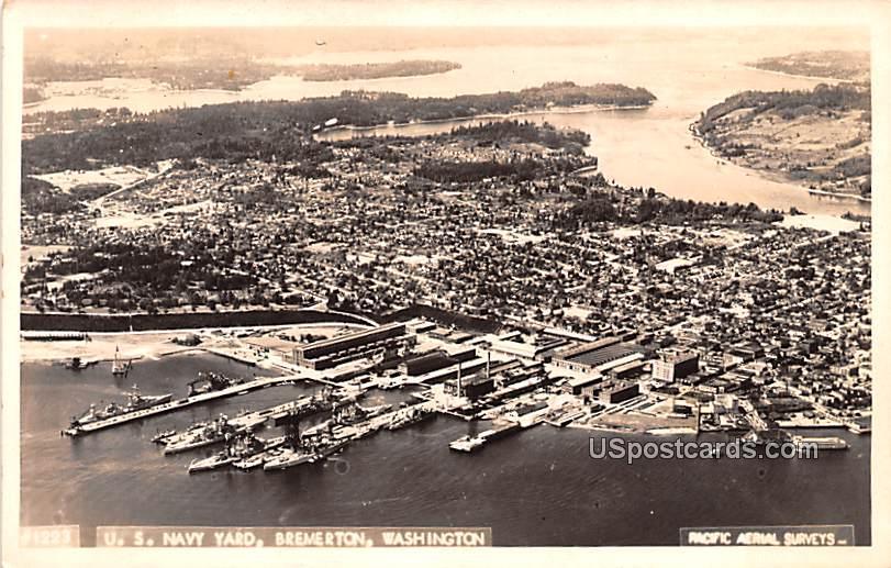 US Navy Yard - Bremerton, Washington WA Postcard